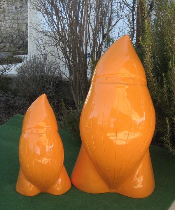 Nain de jardin design monochrome PM 42 cm - Homeparc.fr ...